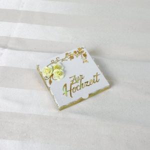 Geldgeschenk Hochzeit, Hochzeitsgeschenk, gold oder silber auswählbar - Handarbeit kaufen