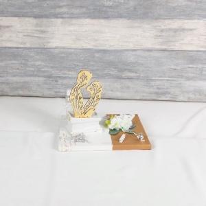 Geldgeschenk Hochzeit, Hochzeitsgeschenk, weiß braun, Brautpaar, Nr. 2 - Handarbeit kaufen