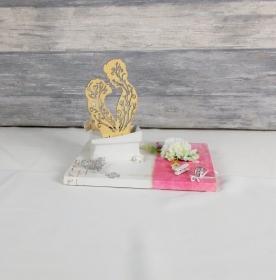 Geldgeschenk Hochzeit, Hochzeitsgeschenk, weiß rosa, Brautpaar - Handarbeit kaufen
