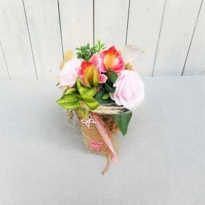 Tischgesteck edel, Gesteck, Tischdeko mit Rosen - Handarbeit kaufen