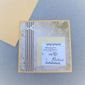 Glückwunschkarte Hochzeit, Hochzeitskarte, Karte zur Hochzeit, Liebe hält die Zeit an - Handarbeit kaufen
