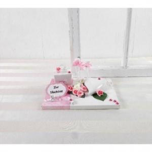 Geldgeschenk Hochzeit, rosa, mit Keramikherz, Geschenkbox, Hochzeitsgeschenk, Nr.4 - Handarbeit kaufen