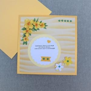 Glückwunschkarte neutral, Karte zum Geburtstag Jubiläum Hochzeit, Manchmal brauch ich - Handarbeit kaufen