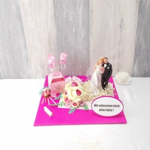 Geldgeschenk Hochzeit, Hochzeitsgeschenk, pink - Handarbeit kaufen