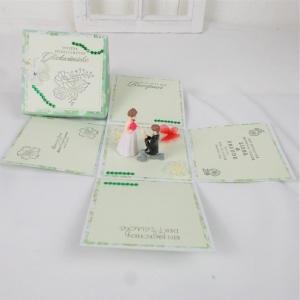 Explosionsbox Hochzeit, Hochzeitsgeschenk in grün, Brautpaar - Handarbeit kaufen