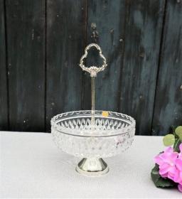 Etagere Bleikristall, BMF N, Glasschale, Vintage - Handarbeit kaufen