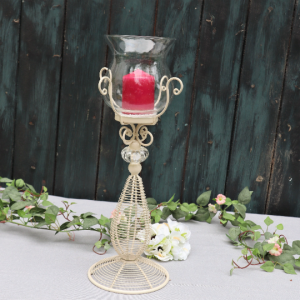 Kerzenhalter, Glas, Metall, Kerzenständer, Vintage - Handarbeit kaufen