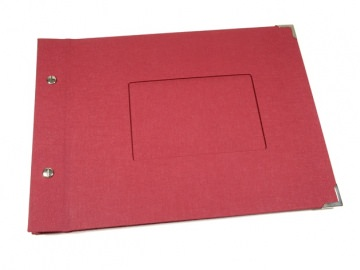 Fotoalbum Gästebuch DIN A4 Passepartout Buchbindehandwerk von Pappelapier