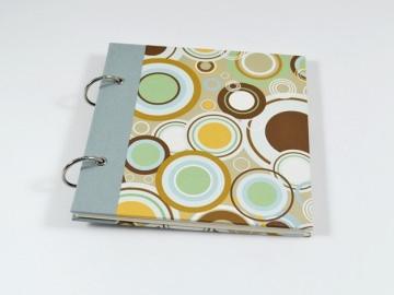 Fotoalbum Gästebuch Ringe Retro Buchbindehandwerk von Pappelapier  - Handarbeit kaufen