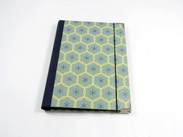 Notizblock Hülle DIN A5 mit Klemmmechanik Retro Buchbindehandwerk von Pappelapier