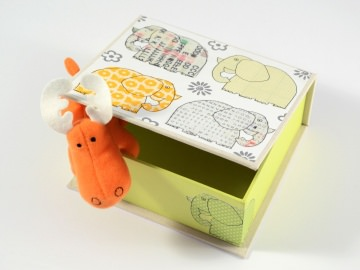 Schachtel Elefanten Buchbindehandwerk von Pappelapier