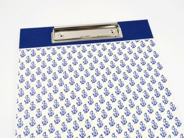 Klemmbrett DIN A4 Anker als Schreibunterlage - Buchbindehandwerk  - Handarbeit kaufen