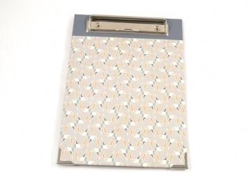 Klemmbrett DIN A5 Retro Buchbindehandwerk von Pappelapier - Handarbeit kaufen
