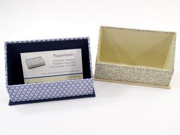 Visitenkarten Aufsteller praktisch für Märkte und Ausstellungen Buchbindehandwerk von Pappelapier