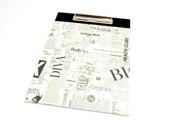 Klemmbrett DIN A4 Zeitungsartikel als Schreibunterlage   - Handarbeit kaufen