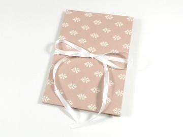 Leporello Fotoalbum Faltbuch in rosa Buchbindehandwerk von Pappelapier  - Handarbeit kaufen