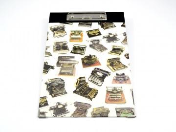 Klemmbrett DIN A4 Schreibmachinen Buchbindehandwerk von Pappelapier - Handarbeit kaufen