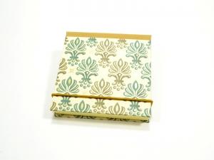 Haftnotiz, Klebezettel Mäppchen goldene Ornamente - Handarbeit kaufen