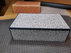 Zauber-Schachtel Zauberkasten blaue Streublümchen  - Handarbeit kaufen