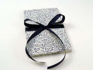 Leporello Fotoalbum Faltbuch blaue Blumen - Handarbeit kaufen