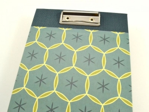 Klemmbrett DIN A6 retro blau - Handarbeit kaufen