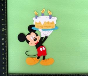 Scrapbooking Stanzteile Kartenschmuck  Kartendeko supersüße Maus mit Geburtstagskuchen - Handarbeit kaufen