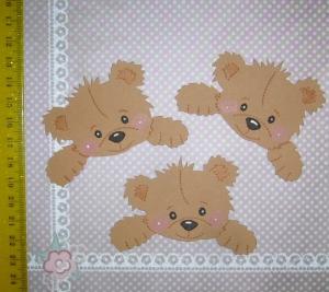 Scrapbooking Stanzteile Kartendeko Kartenschmuck  3 Bärenrohlinge in braun - Handarbeit kaufen