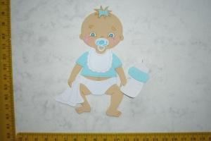 Scrapbooking  Stanzteil  Kartendeko  Kartenschmuck  Baby Junge sitzend  - Handarbeit kaufen