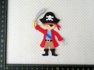 Scrapbooking  Stanzteil  Kartendeko  Kartenschmuck  Kleiner süßer Pirat
