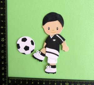 Scrapbooking  Stanzteil  Kartendeko  Kartenschmuck  Fußballer  - Handarbeit kaufen