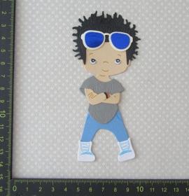 Scrapbooking Stanzteil Kartendeko Kartenschmuck Cooler Boy - Handarbeit kaufen