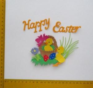 Stanzteil  Kartendeko  Kartenschmuck Scrapbooking Ostern  - Handarbeit kaufen