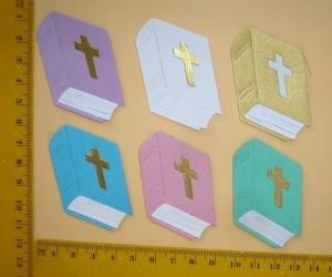 Stanzteil  Kartendeko  Kartenschmuck Scrapbooking Taufe Kommunion Konfirmation Hochzeit Bibeln