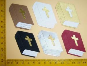 Stanzteil  Kartendeko  Kartenschmuck Scrapbooking Taufe Kommunion Konfirmation Hochzeit Bibel - Handarbeit kaufen