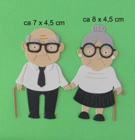 Stanzteil  Kartendeko  Kartenschmuck Scrapbooking Oma und Opa  - Handarbeit kaufen