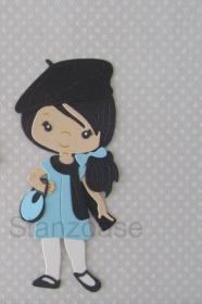 Stanzteil  Kartendeko  Kartenschmuck Scrapbooking Kindergeburtstag Cooles Girl - Handarbeit kaufen
