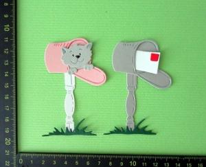 Stanzteil  Kartendeko  Kartenschmuck Scrapbooking Geburtstag 2 x lustiger Briefkasten