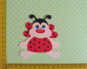 Stanzteil  Kartendeko  Kartenschmuck Scrapbooking Kindergeburtstag süßes kleiner Marienkäfer - Handarbeit kaufen