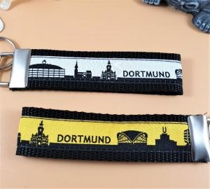 Schlüsselanhänger ♡Dortmund♡ in zwei Farben, mit Klemmschließe - Handarbeit kaufen