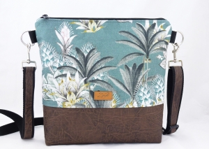 Umhängetasche floral in grün /braun - Handarbeit kaufen
