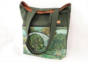 Shopper Bäume, Schultertasche, Umhängetasche, Einkaufstasche - Handarbeit kaufen