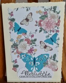 Schmetterlinge überbringen Geburtstagsgrüße - Handarbeit kaufen
