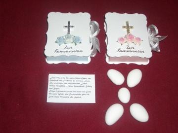 Gastgeschenke Kommunion Bibel Kartonagen Bibelbox OHNE BEFÜLLUNG - Handarbeit kaufen