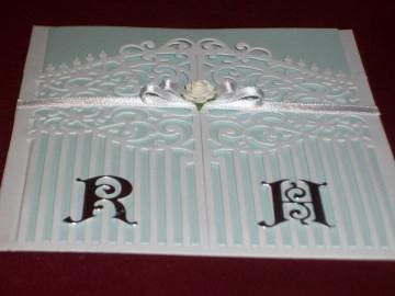Pocketstyle Einladungskarten Hochzeit Hochzeitskarte Einladungen Türkarte  - Handarbeit kaufen