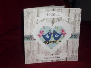 Shabby Chic Einladungskarten Hochzeit Einladungen Einladungskarte Hochzeitseinladung - Handarbeit kaufen