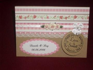 Shabby Chic Einladungskarten Hochzeit Hochzeitskarten Einladungen - Handarbeit kaufen