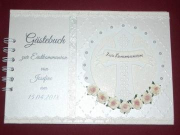 Gästebuch Gästealbum Fotoalbum Kommunion Konfirmation Taufe  - Handarbeit kaufen