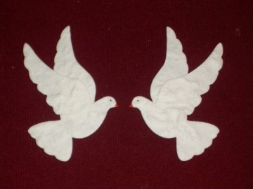 4x Stanzteile Kartenschmuck Tauben Hochzeit Einladungskarten Hochzeitsalbum