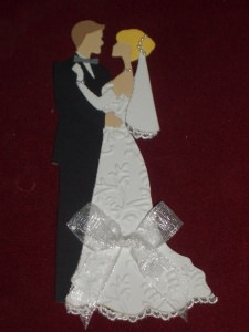 Stanzteile Kartenschmuck Kartendeko Hochzeitspaar Brautpaar Hochzeit Braut - Handarbeit kaufen