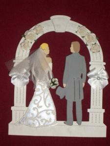 Stanzteile Kartenschmuck Kartendeko Hochzeit Brautpaar Braut Bräutigam Hochzeitsalbum - Handarbeit kaufen